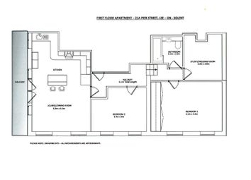 Thumbnail 2 bed flat for sale in Pier Street, Lee-On-The-Solent