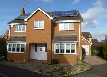 Thumbnail 4 bedroom detached house for sale in Glemsford Rise, Orton Longueville, Peterborough