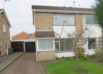 Thumbnail 2 bed semi-detached house for sale in Holyrood Drive, Countesthorpe, Leicester