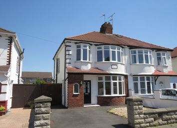 Thumbnail 3 bedroom semi-detached house to rent in Girtrell Road, Saughall Massie, Wirral