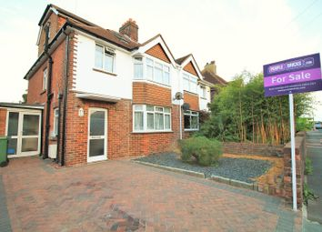 Thumbnail 4 bed semi-detached house for sale in Churchdale Road, Eastbourne