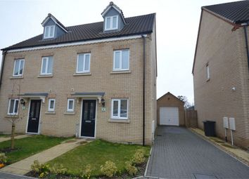 Thumbnail 3 bed semi-detached house for sale in Chestnut Place, Cringleford, Norwich