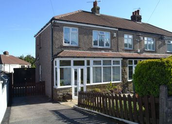 Thumbnail 3 bed semi-detached house for sale in Poplar Grove, Horton Bank Top, Bradford