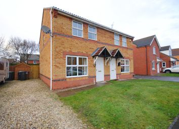 Thumbnail 3 bed semi-detached house for sale in Fox Covert, South Hykeham, Lincoln