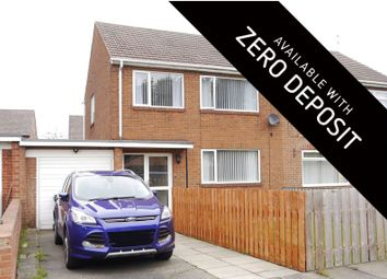 Thumbnail 3 bed semi-detached house to rent in Knox Road, Bedlington