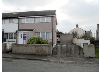 Thumbnail 3 bed end terrace house for sale in Glan Peris, Caernarfon