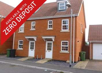 Thumbnail 3 bedroom semi-detached house to rent in Ensign Way, Diss