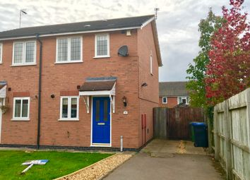 Thumbnail 2 bed semi-detached house to rent in Muncaster Close, Broughton Astley, Leicester