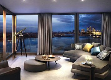 Thumbnail 2 bed flat for sale in Royal Wharf Walk, London