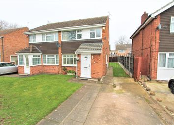 Thumbnail 3 bed semi-detached house for sale in Silverstone Drive, Rushey Mead, Leicester
