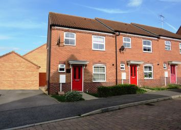 Thumbnail 3 bed end terrace house for sale in Siskin Close, Corby
