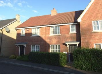 Thumbnail 2 bedroom terraced house to rent in Elmcroft Close, Beck Row, Bury St. Edmunds
