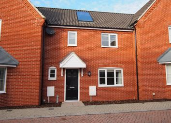 Thumbnail 3 bed terraced house for sale in Simpson Way, Wymondham