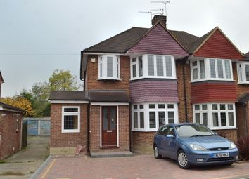 Thumbnail 3 bed semi-detached house to rent in Woodhurst Avenue, Garston, Watford