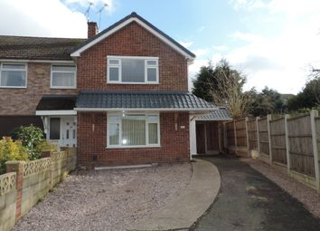 Thumbnail 2 bed semi-detached house to rent in Wordsworth Avenue, Stafford