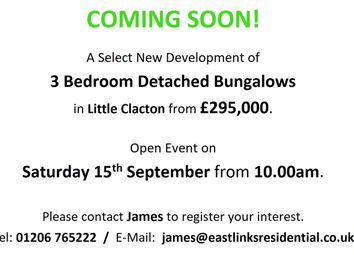 Thumbnail 3 bed bungalow for sale in Little Clacton, Essex