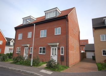 Thumbnail 4 bed town house to rent in Spindle Drive, Thetford, Norfolk