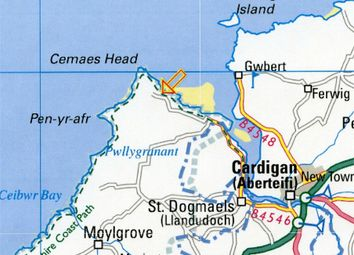 Thumbnail Land for sale in Rock Cottage, Poppit, Cardigan, Pembrokeshire
