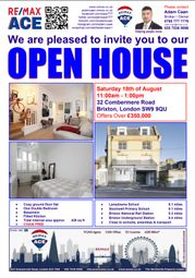 Thumbnail 1 bed flat for sale in Combermere Road, Brixton, London