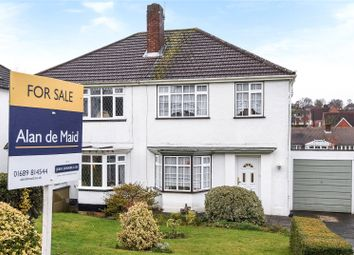 Thumbnail 3 bed semi-detached house for sale in Summerhill Close, Orpington