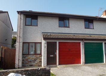 Thumbnail 2 bed semi-detached house to rent in Rebecca Close, St Blazey, Cornwall