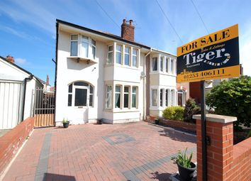 Thumbnail 4 bed semi-detached house for sale in Swanage Avenue, Blackpool, Lancashire