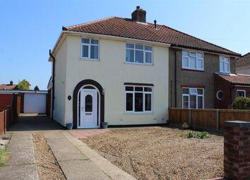 Thumbnail 3 bedroom semi-detached house for sale in Links Avenue, Hellesdon, Norwich