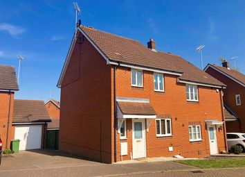 Thumbnail 3 bed semi-detached house for sale in Lacewing Close, Pinewood, Ipswich