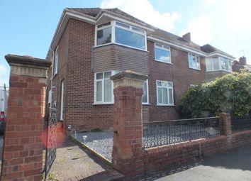 Thumbnail 3 bed maisonette to rent in Marlborough Road, St Leonards, Exeter, Devon