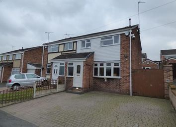 Thumbnail 3 bed semi-detached house for sale in Cheviot Close, Swadlincote, Derbyshire