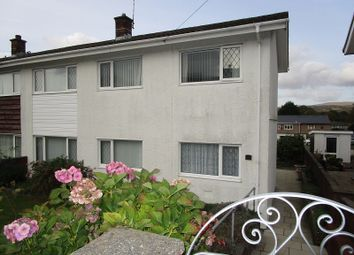 Thumbnail 3 bed semi-detached house for sale in Dolfain, Ystradgynlais, Swansea.
