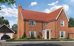 Thumbnail 4 bedroom detached house for sale in The Street, Gazeley, Newmarket