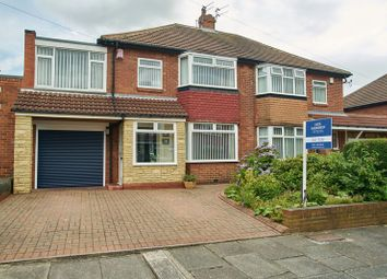 Thumbnail 5 bedroom semi-detached house for sale in Slingsby Gardens, High Heaton, Newcastle Upon Tyne