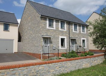 Thumbnail 3 bed semi-detached house for sale in Cursley Path, Wells