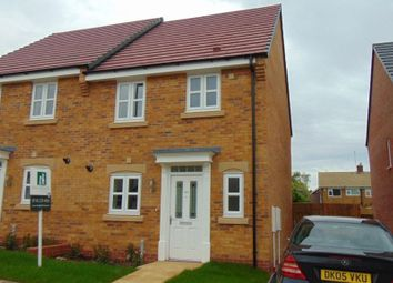 Thumbnail 3 bed semi-detached house to rent in Buckthorn Way, Great Glen, Leicester