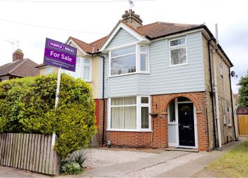 Thumbnail 3 bed semi-detached house for sale in Clapgate Lane, Ipswich