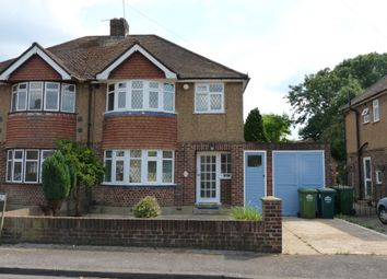 Thumbnail 3 bed semi-detached house to rent in Heath Close, Stanwell, Staines