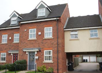 Thumbnail 4 bedroom town house for sale in Barons Close, Kirby Muxloe, Leicester