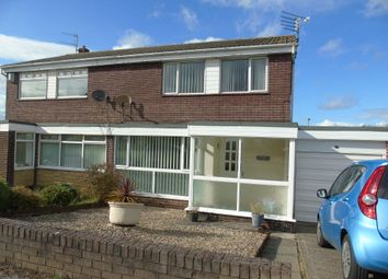 Thumbnail 3 bed semi-detached house for sale in Woodlands Road, Ashington