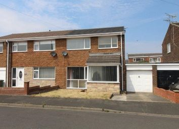 Thumbnail 3 bed semi-detached house for sale in Chillingham Close, Blyth