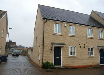 Thumbnail 2 bed end terrace house to rent in Christie Drive, Huntingdon