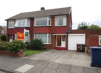 Thumbnail 4 bed semi-detached house to rent in Redesdale Avenue, Gosforth, Newcastle Upon Tyne