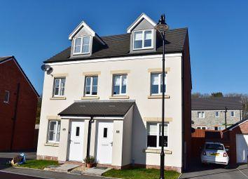 Thumbnail 3 bedroom semi-detached house for sale in Clos Y Coed Castan, Coity, Bridgend.