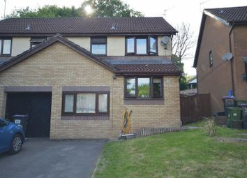 Thumbnail 3 bed semi-detached house to rent in Clover Court, Ty Canol, Cwmbran