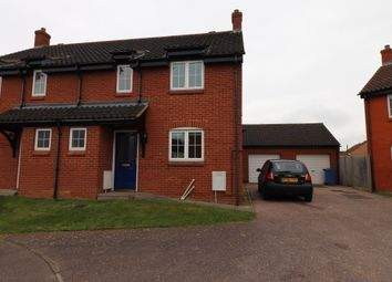 Thumbnail 3 bed semi-detached house to rent in Clearwing Close, Pinewood, Ipswich, Suffolk