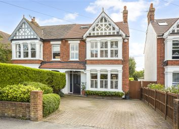 Thumbnail 5 bed semi-detached house for sale in Leigh Road, Cobham, Surrey
