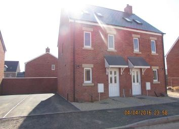 Thumbnail 3 bed semi-detached house to rent in Bryn Y Telor, Parc Derwen, Coity, Bridgend, Mid Glamorgan.