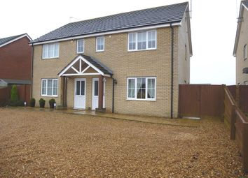Thumbnail 3 bed semi-detached house for sale in Station Avenue, Murrow, Wisbech
