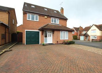 Thumbnail 5 bed detached house for sale in Newquay Close, Hinckley
