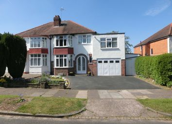 Thumbnail 4 bed semi-detached house for sale in Bibury Road, Hall Green, Birmingham